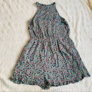 Mossimo supply co. Size small green romper floral